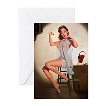 Amazon Cafepress Pin Up Lingerie Greeting Card Note