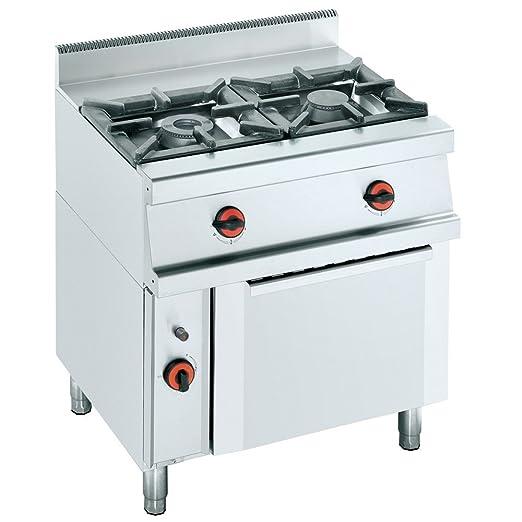 Macfrin S2SH Cocina a Gas de 2 Fuegos y Horno Con Gratinador: Amazon.es: Industria, empresas y ciencia