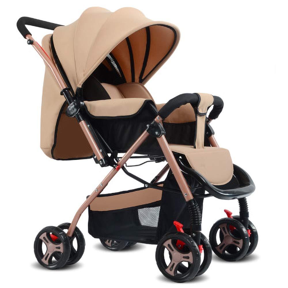0-3歳の赤ちゃんのための5点式シートベルトとハンドル折りたたみ式デザインの軽量ベビーカーポータブルトラベルカート  Chrome B07SR25GTQ