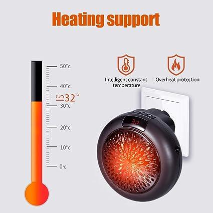 Calefactor Eléctrico de Aire Caliente,KKmoon Calefactor Silencioso ...