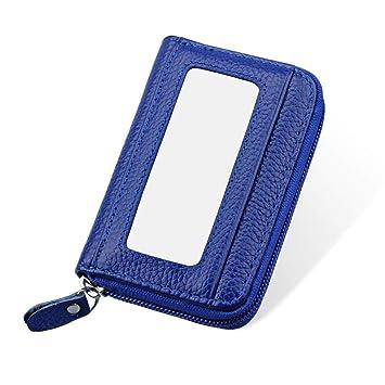 Mengshen Cartera de Bloqueo RFID para Damas de Mujer, excelente Protector de Tarjeta de crédito, Cuero sintético, Delgado con Gran Capacidad, ...