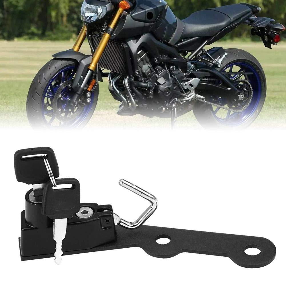 Keenso Motorrad Helmhalterung mit 2 Schl/üsseln f/ür MT-09 FZ-09 FJ-09 XSR900 schwarz