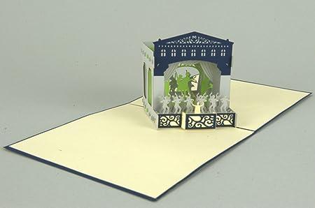Theater 3D Pop Up Greeting Card Birthday Voucher Musical Handmade 15