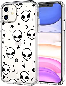 for iPhone 11 Case, MOSNOVO Crystal Clear Slim Soft TPU + PC Shockproof Protective Phone Cover with Cool Alien Design Case for iPhone 11 6.1