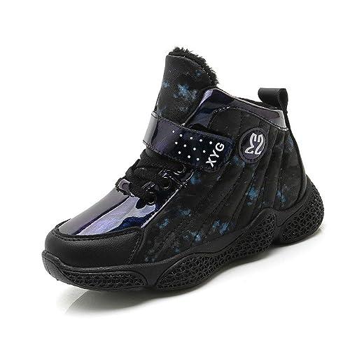 Zapatillas Deportivas de Invierno para niños Moda para niños Zapatillas de Deporte Antideslizantes Antideslizantes para niñas Zapatillas de Deporte para ...