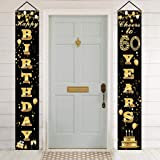 60th Birthday Door Banner,Happy 60th Birthday Banner,60th Birthday Anniversary Party Decorations Supplies Cheers to 60 Years