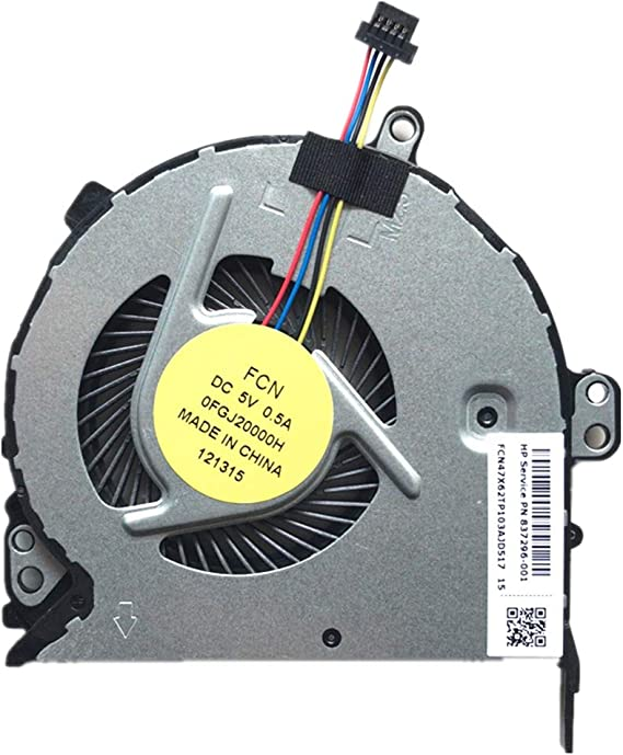 Z-one Fan Replacement for HP Probook 440 G5 HSN-Q08C 66 Pro G1 CPU Cooling Fan 4-Wires 4-pins L03613-001