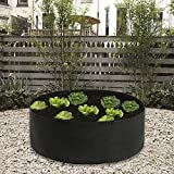 pannow Raised Garden Bed, Fabric Raised Planting Bed Round Garden Grow Bag for Herb Flower Vegetable Plants