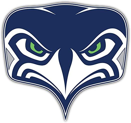 qualityprint Seattle Seahawks Set of 4 NFL Football Car Bumper Stickers Decals 5 Longer Side