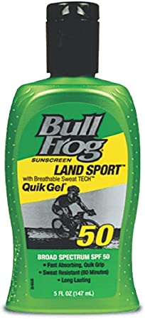BullFrog Land Sport, Quik Gel Sunscreen SPF 50 5 oz Pack of 4