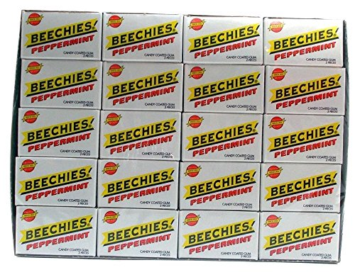 Beechies Gum (Beechies Peppermint Gum - 100 Boxes of Gum - Each Box Has 2 Pieces of Gum)