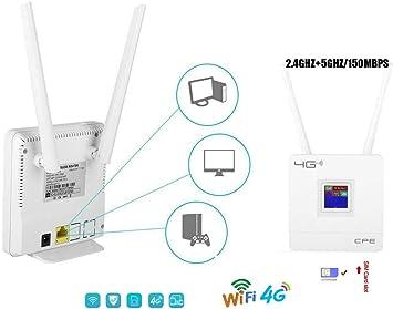 Router inalámbrico 4G con 2 Antenas integradas Puerto LAN ...