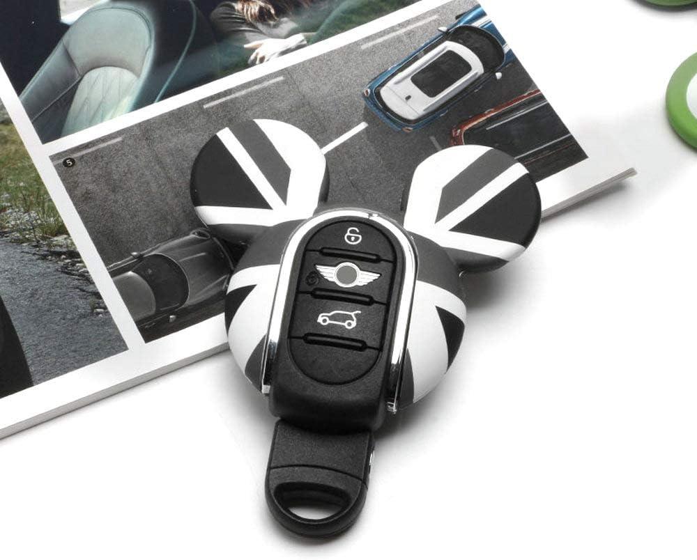Heinmo Für Cooper S Countryman F54 F55 F56 F57 F60 Schlüsselschale Schlüsselanhänger Schlüsselabdeckung Kettenseil Schlüsselbundlegierung Zubehör Gray Jack Mq Cover Auto