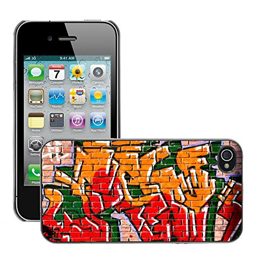 Premio Sottile Slim Cassa Custodia Case Cover Shell // V00002341 Graffiti // Apple iPhone 4 4S 4G