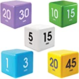 The Miracle Cube Timer, 5 Piece Set, For Time Management, Kitchen Timer, Kids Timer, Workout Timer, Preset Countdown