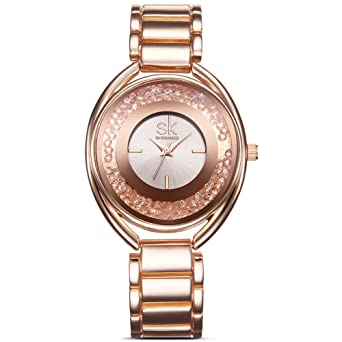 Designer Womens Watches Rose Gold Quartz Stainless Steel Dress Watch for Women