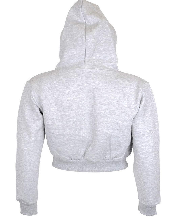 Damen Pullover Bauchfrei Casual Langarm Sweatshirt Kurz Sport Crop Tops Oberteile Sweatjacke Shirts Hemd Bluse Bauchfreier Pulli M/ädchen