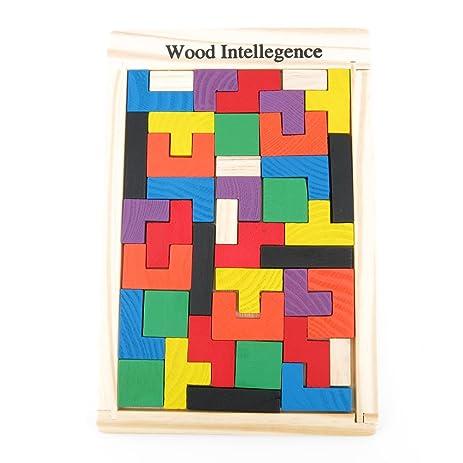 1x wisdom logic mind intelligence training teaser educational puzzle toys disentanglement game wy0560 tetris - Tetris Planken