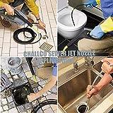 "CREEXEON Challco Sewer Jetter Nozzle,Pressure Drain Jetter Hose Nozzle, 5000psi, 1/4"" Quick Connector"
