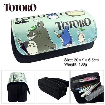 Mi vecino Totoro Lápiz Monedero Anime Gran capacidad Doble ...