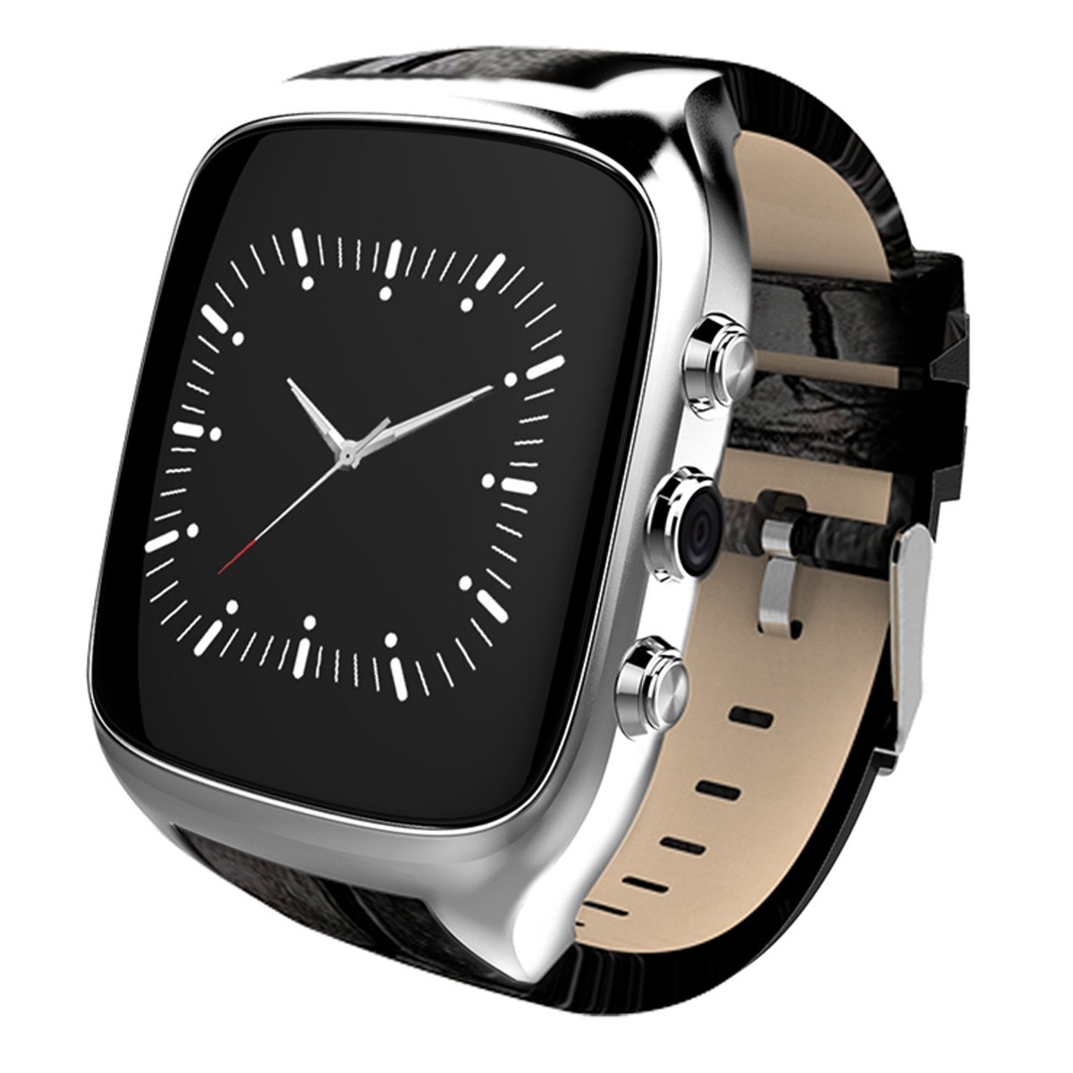 Waterproof Smart Watch Android 5.1 Mobile Phone MTK6580 with GPS - Silver