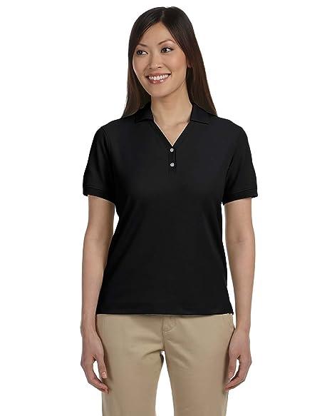 892d9cc2 Amazon.com: Devon & Jones Ladies Pima Piqué Y-Collar Polo Shirt ...