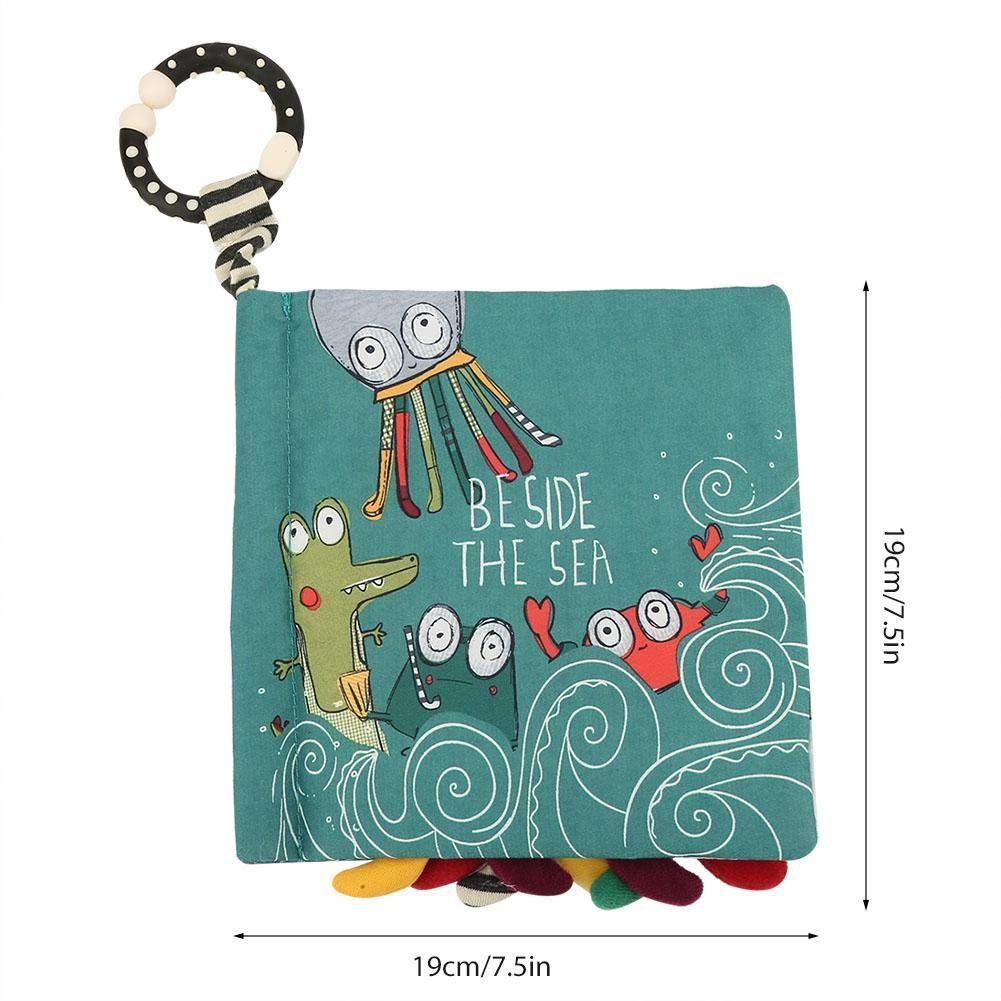 Verde Libro di Stoffa del Bambino Infantile del Fumetto Libri Morbidi Lavabile per Il Regalo educativo del Bambino del Bambino