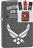Zippo 29121 United States Air Force Lighter + Fuel Flint Wick Pouch Gift Set