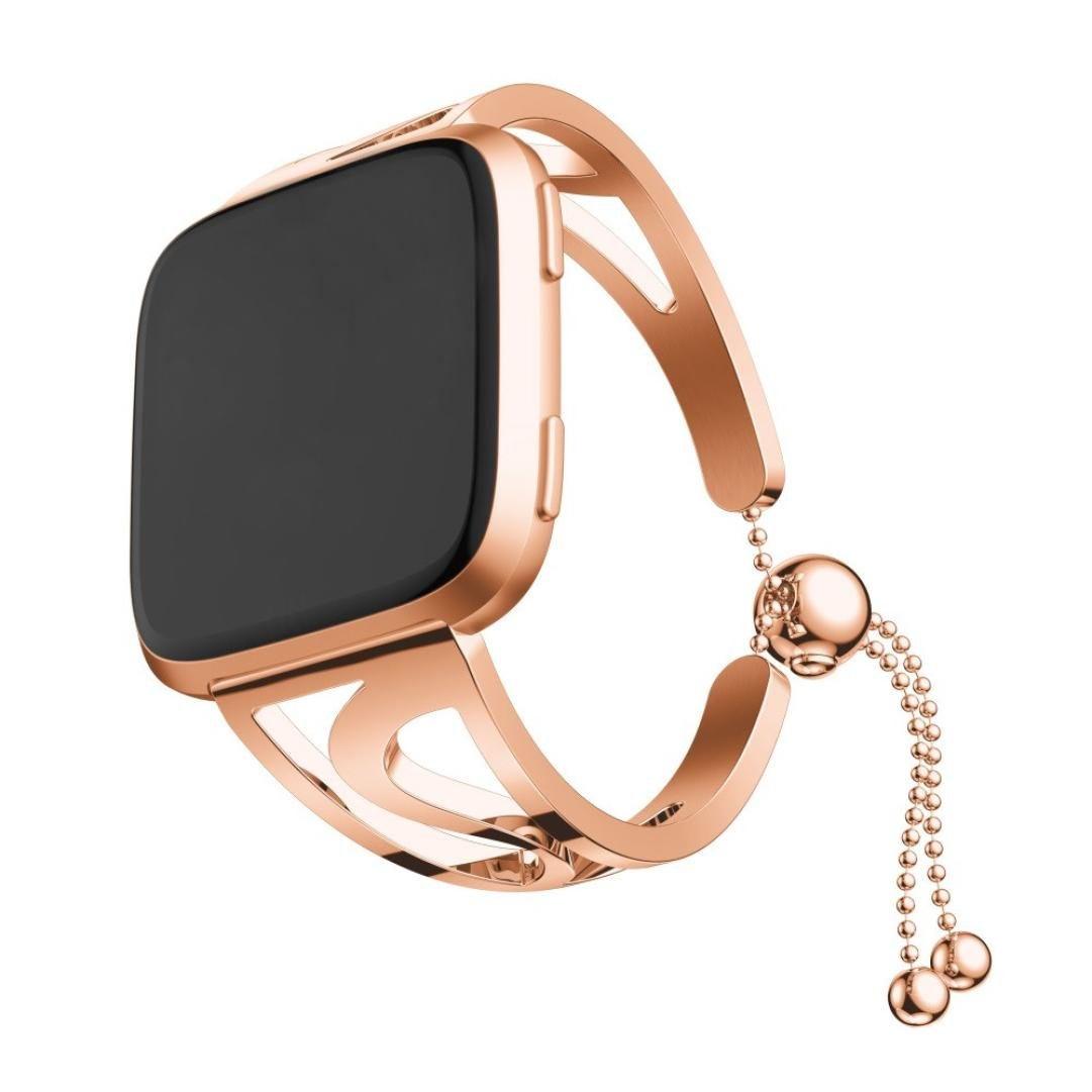 YJYdada Fashion Bracelet Replacement Girls WatchBand Wirstband Strap for Fitbit Versa (Rose Gold)