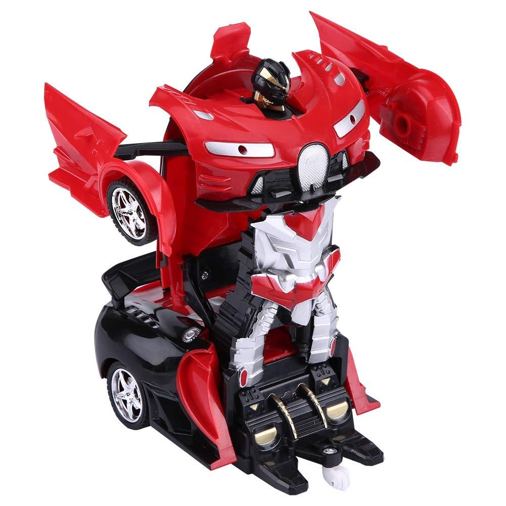 Rojo Dilwe Transformaci/ón Robot Coche 1//18 Escala One-Key Deformaci/ón Control Remoto Coche con Luces Shape-Shift Modelo de Coche Veh/ículo de Juguete para Ni/ños