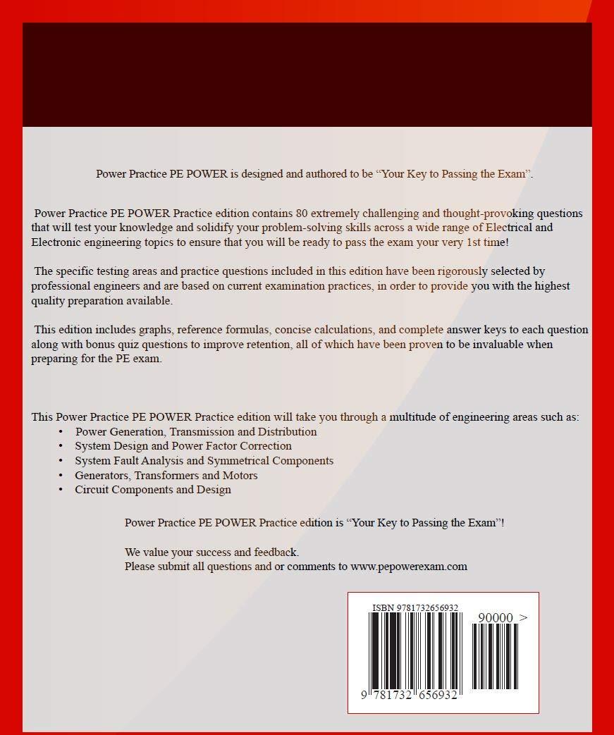 Power Practice Pe Power Electrical And Computer Power Pe Exam Practice Edition Shorebrook Llc 9781732656932 Amazon Com Books