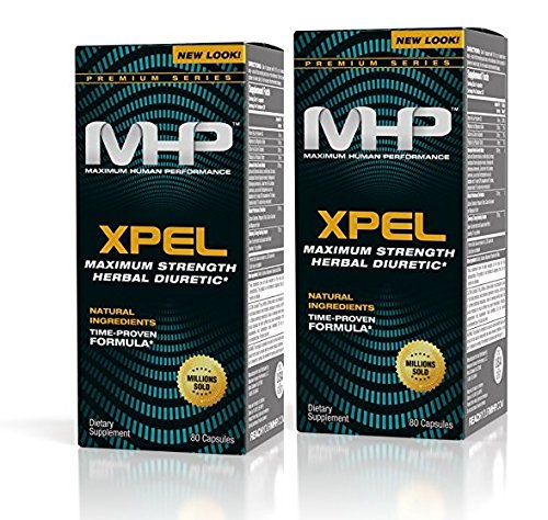MHP Xpel Maximum Strength Diuretic Capsules, 80 Capsules, 2 Count (160 Total) (Packaging May Vary)