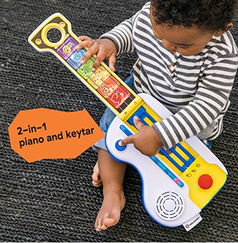 61xYIRtSpoL - Baby Einstein Flip & Riff Keytar Musical Guitar and Piano Toddler Toy with Lights and Melodies, Ages 12 months and up