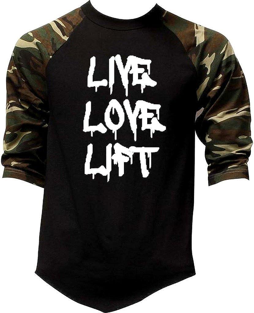 Juniors Dripping Graffiti Live Love Lift V276 Off-Shoulder Long Sleeve T-Shirt Black