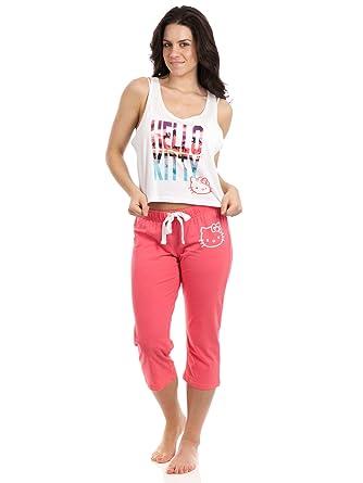 0edf22ddb Hello Kitty Intimates Women's Summer Breeze Sleep Set - Orange ...