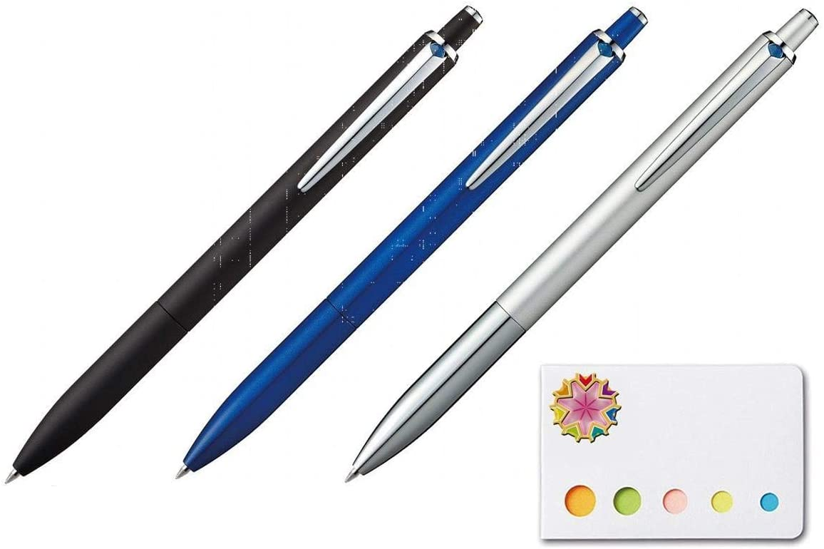 Uni Ball Jetstream Extra Fine /& Micro Point Click Retractable Roller Ball Pens Rubber Grip Type 0.5mm Black Ink 4 Body Color Value Set