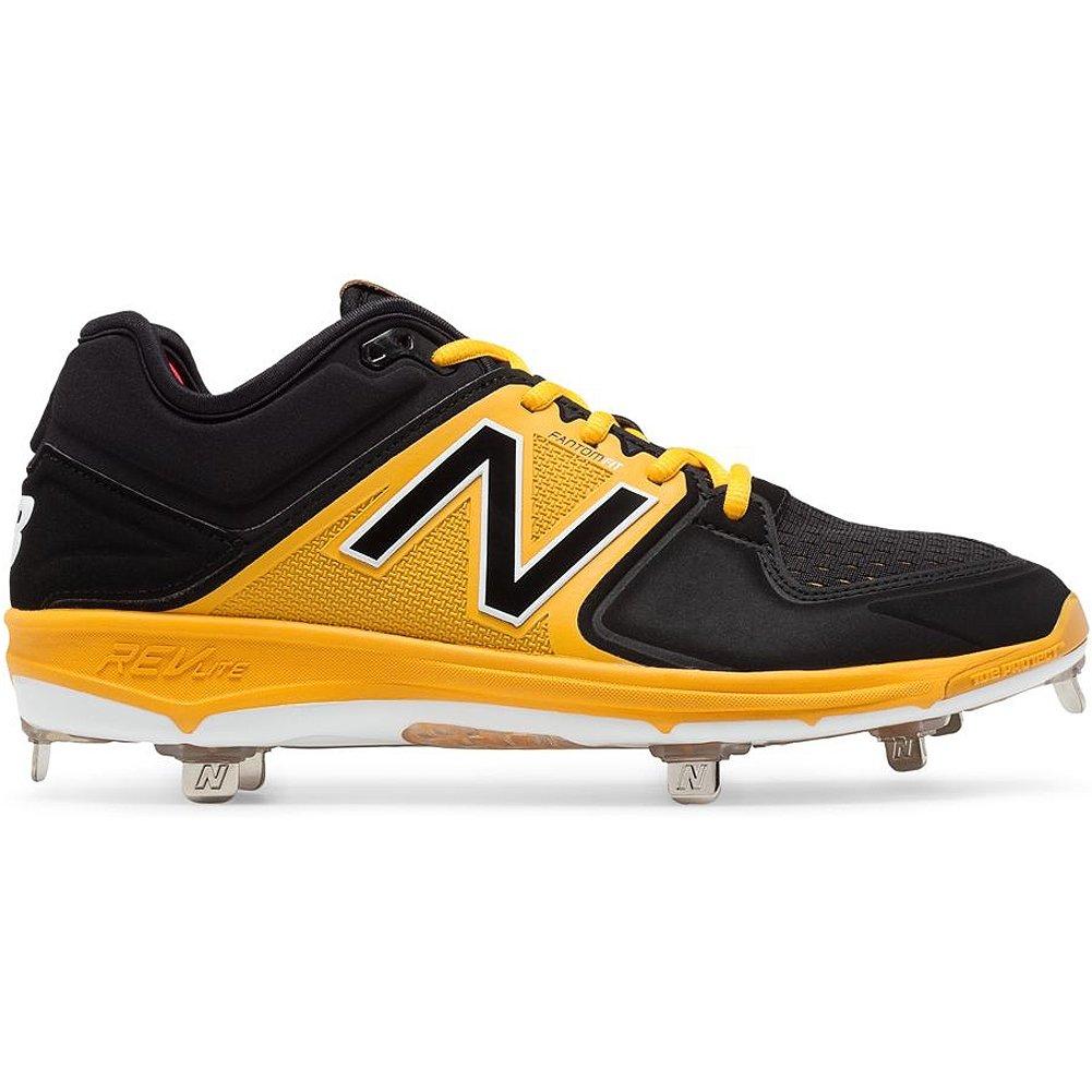 (ニューバランス) New Balance メンズ L3000v3 野球スパイクシューズ B01NBI7O5U 15 D(M) US|ブラック-イエロー ブラック-イエロー 15 D(M) US