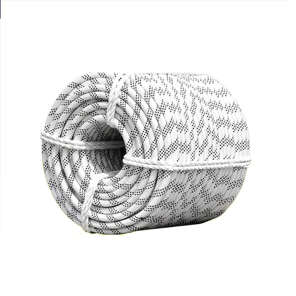 LIINA ロープ 14ミリメートルナイロンロープ、高強度ポリエステル安全かつ環境にやさしい非弾性、耐摩耗性耐久性 (Size : Double layer - 30M)  Double layer - 30M