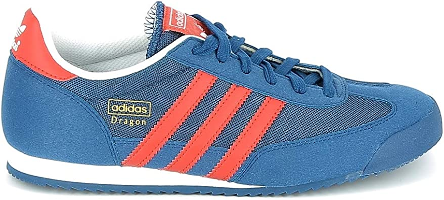 adidas dragon cuir rouge