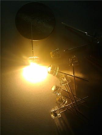 10000pcs 5mm Straw hat Blue LED Wide Angle Light lamp