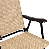 Best Choice Products Set of 2 Outdoor Mesh Fabric Portable Folding Sling Back Chairs for Backyard, Picnics, Beach, Camping, Patio, Porch, Garden, Pool w/UV-Resistance - Beige