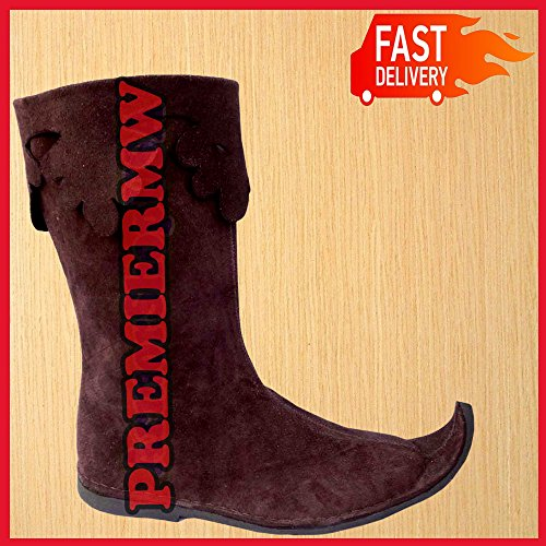 NASIR Schuhe Stiefel Braun ALI Herren Schuh Schuhe Renaissance Leder Mittelalter Lang Viking qPUtwqxr