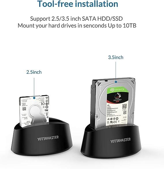 10TB y UASP ] Yottamaster Base de Conexión Docking Station USB 3.0 ...