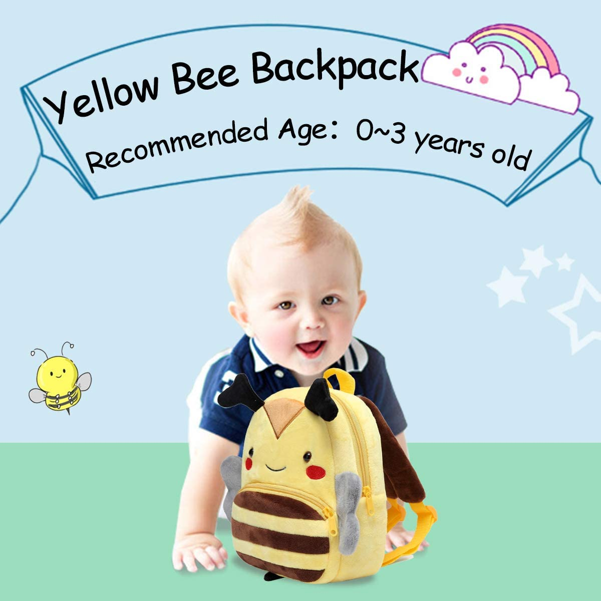 Backpack for Boys and Girls,KASQO Small Cute Animal 3D Soft Plush Backpack for Baby Elephant