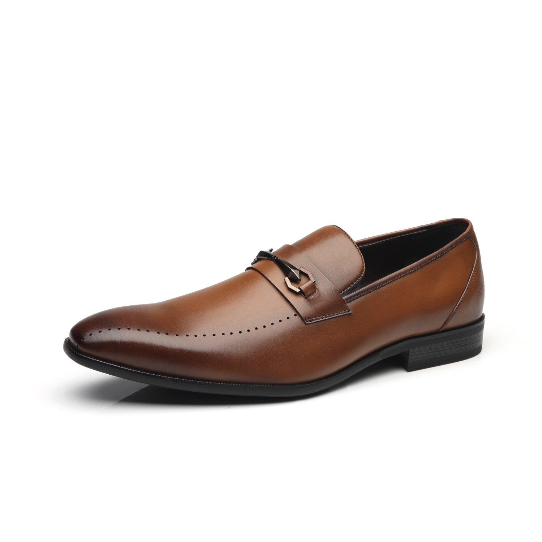 763cd257c21 Faranzi Men Dress Shoes Slip On Buckle Loafer Shoes for Men Loafer  Comfortable Formal Casual Business Shoes
