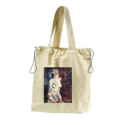 50%OFF Nude, Nudo Dolente (Modigliani) Canvas Drawstring Beach Tote Bag