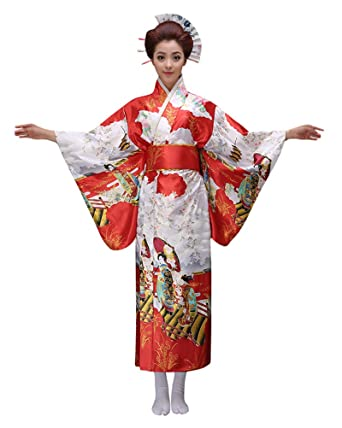 e33a58c00c Amazon.com  ACE SHOCK Women s Kimono Robe Long