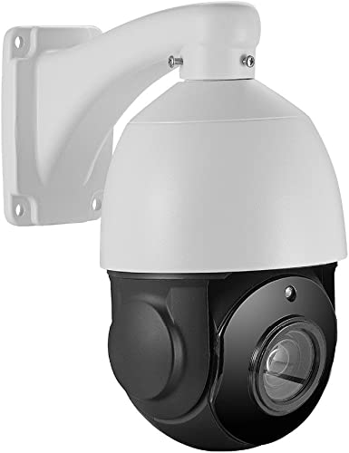Outdoor 5MP PTZ IP POE Security Camera Pan Tilt 30xOptical Zoom Speed Dome 250FT IR Night Vision Motion Detection Remote View Onvif RTSP Support AT-500PE20