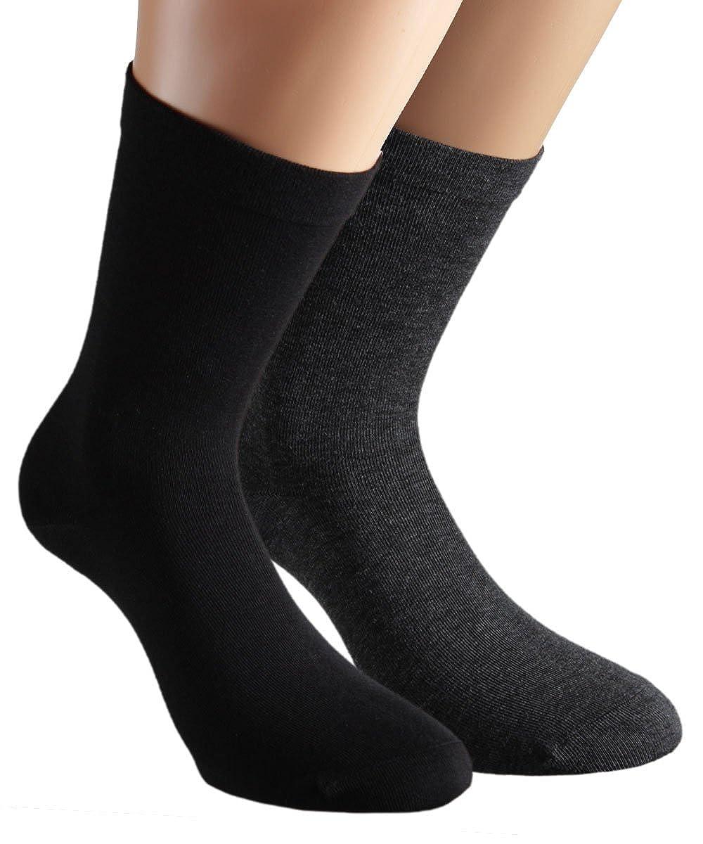 VITASOX calzini da uomo extra larghi in cotone, calzini sanitari sensibili completamente privi di gomma e di cuciture, pacco da 6 o da 8 31209