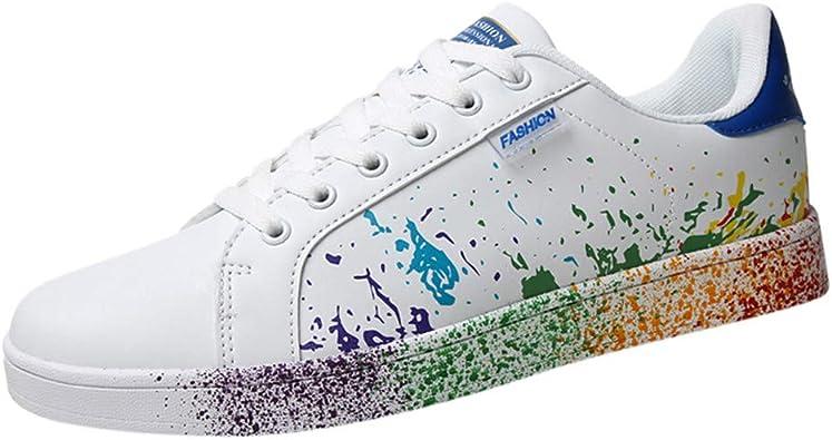 Amazon.com   RQWEIN Men Women's Skateboarding Shoe Colorful Sneakers Casual  Sports Flat Shoes Couple White Shoes Walking Board Shoes   Walking